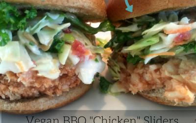 "Vegan BBQ ""chicken"" sandwich"