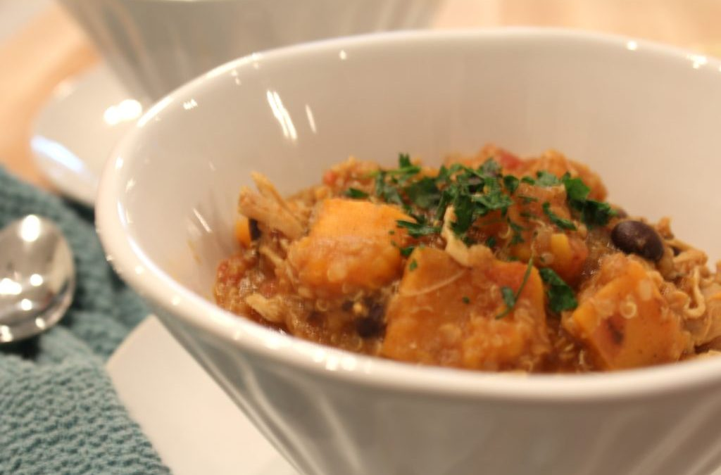 Slow-Cooker Sweet Potato & Chicken Stew