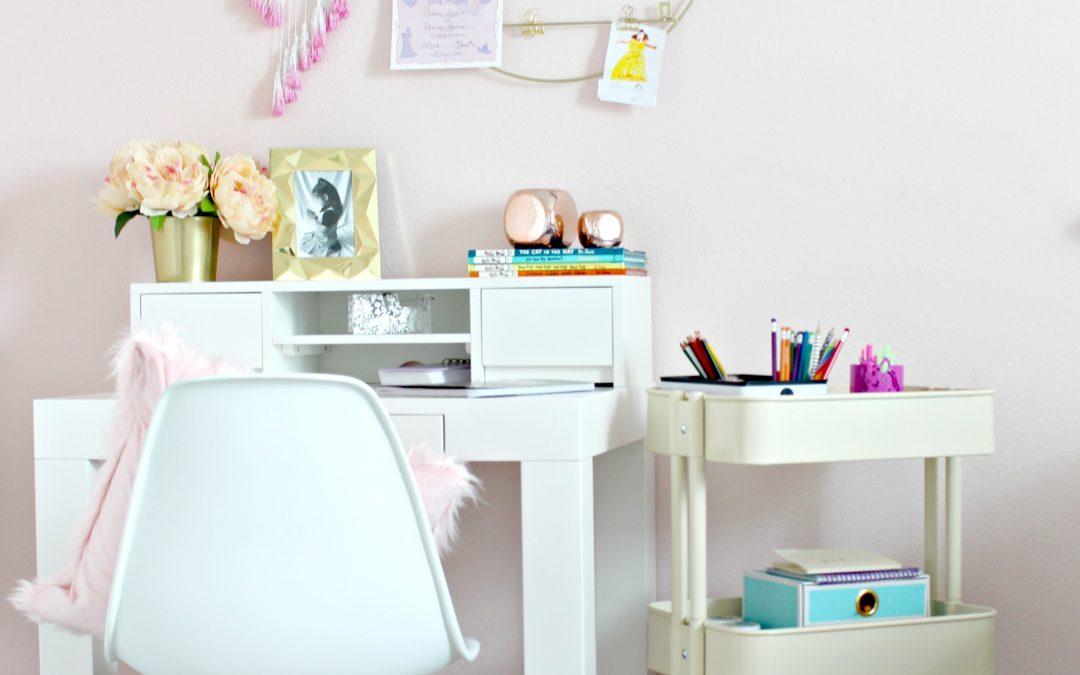 DIY Homework Space for Girls